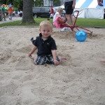Chase playing in the sand (6/13/10)
