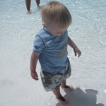 Chase\'s first trip to the pool (6/19/10)