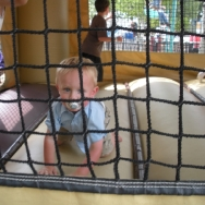 Chase playing in a bouncer at the State Fair (8/7/10)