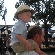 Chase on Dadda\'s shoulder at the State Fair (8/7/10)