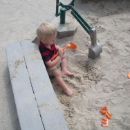 Chase playing in the sand (8/20/10)