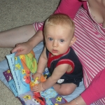 Mommy reading to Chase (7/11/09)