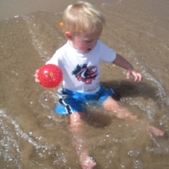 Chase playing in the water (7/24/10)