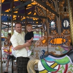 Chase and Daddy on the Merry-Go-Round (6/13/10)