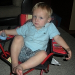 Chase in his new chair (6/18/10)